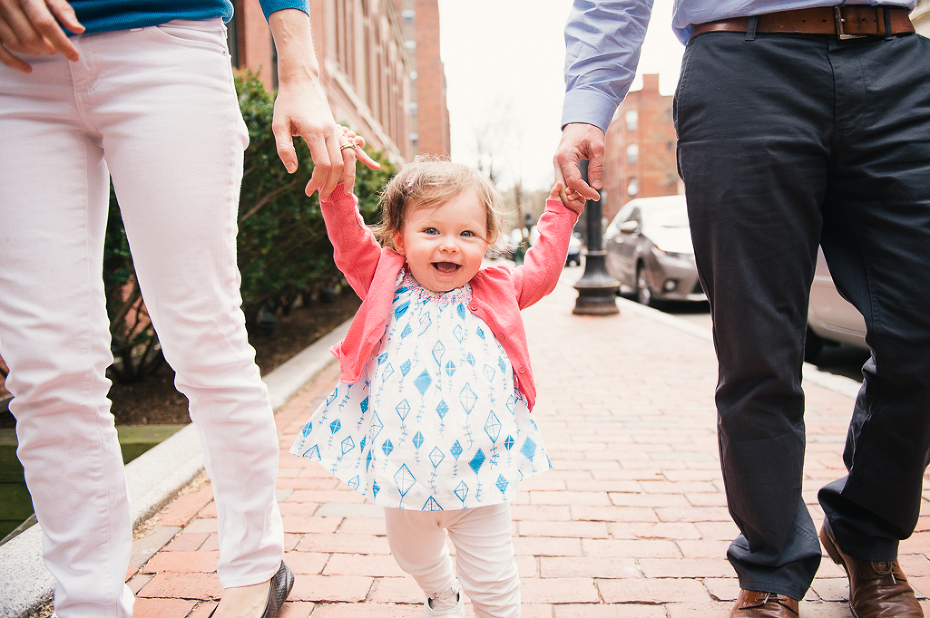 a boston family photographer documenting a family in the south end