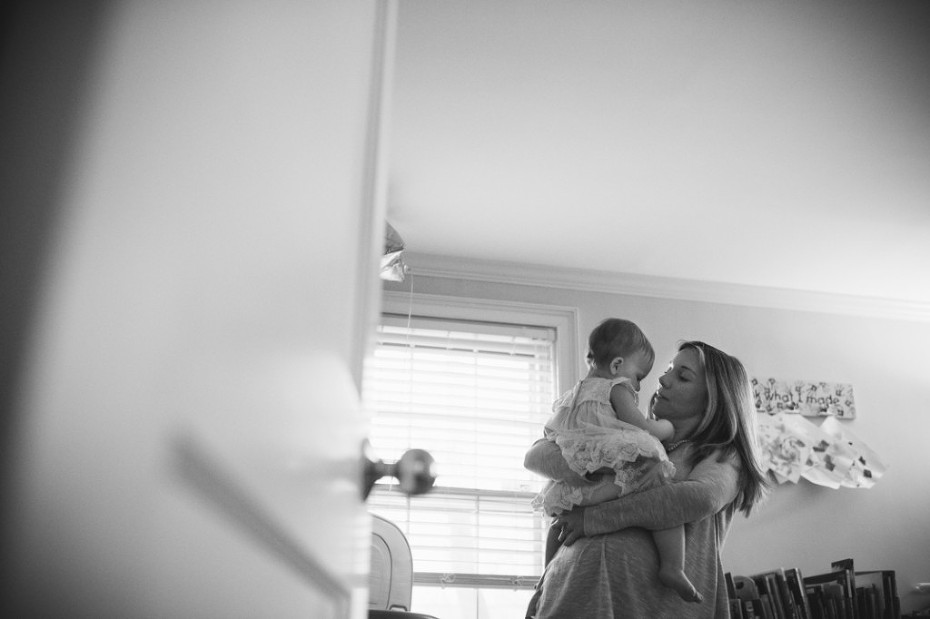 A family is Boston is photographed for one of their children